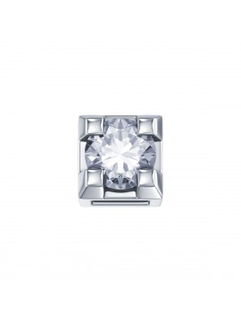 ELEMENTS SQUARE JAWS IN WHITE GOLD AND DIAMOND