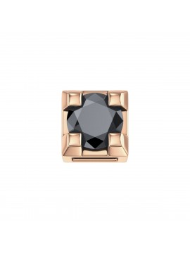 ELEMENTS SQUARE JAWS IN ROSE GOLD AND BLACK DIAMOND