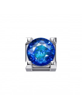 ELEMENTS SQUARE GRIFFE IN WHITE GOLD AND SAPPHIRE