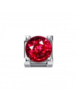 ELEMENTS SQUARE JAWS IN WHITE GOLD AND RUBY