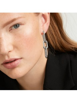 PDPAOLA MUZE EARRINGS IN RHODIUM-PLATED SILVER