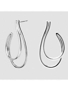 PDPAOLA KOKO EARRINGS IN SILVER PLATED RHODIUM-PLATED SILVER