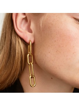 PDPAOLA MUZE EARRINGS IN YELLOW GOLD PLATED SILVER