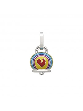 CHATECLER SMALL PENDANT BELL L'AMMORE CAPRINESS ET VOILA IN SILVER AND ENAMELS
