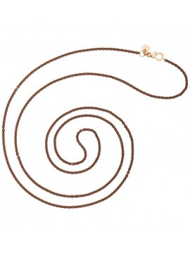 DODO NECKLACE IN SILVER BROWN COLOR AND CLOSURE IN 9KT ROSE GOLD