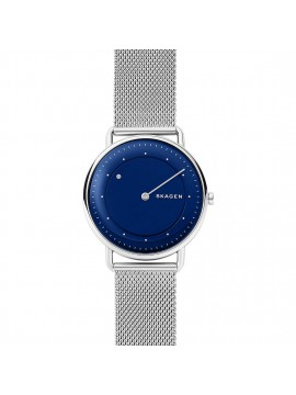 SKAGEN HORIZONT WATCH IN STAINLESS STEEL WITH BLUE DIAL AND MESH BRACELET
