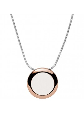 SKAGEN SEA GLASS SILVER NECKLACE IN BICOLOR STAINLESS STEEL AND GLASS