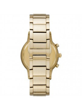 EMPORIO ARMANI RENATO CHRONOGRAPH WATCH IN PVD STEEL YELLOW GOLD