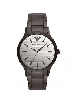 EMPORIO ARMANI RENATO WATCH IN BLACK PVD STEEL WITH MIRROR POLISHED STEEL DIAL
